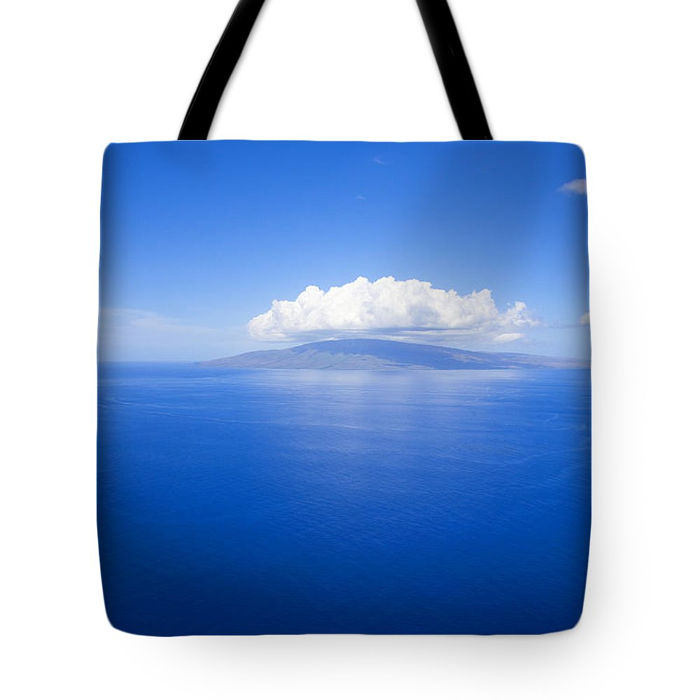 Above Tote Bag featuring the photograph Island Of Lanai by Ron Dahlquist - Printscapes