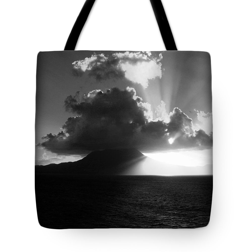Island Tote Bag featuring the photograph Island Sunrise 2 by Perry Webster