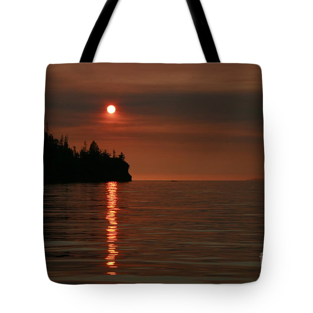 Ocean Tote Bag featuring the photograph Island Sunset by Rick Monyahan