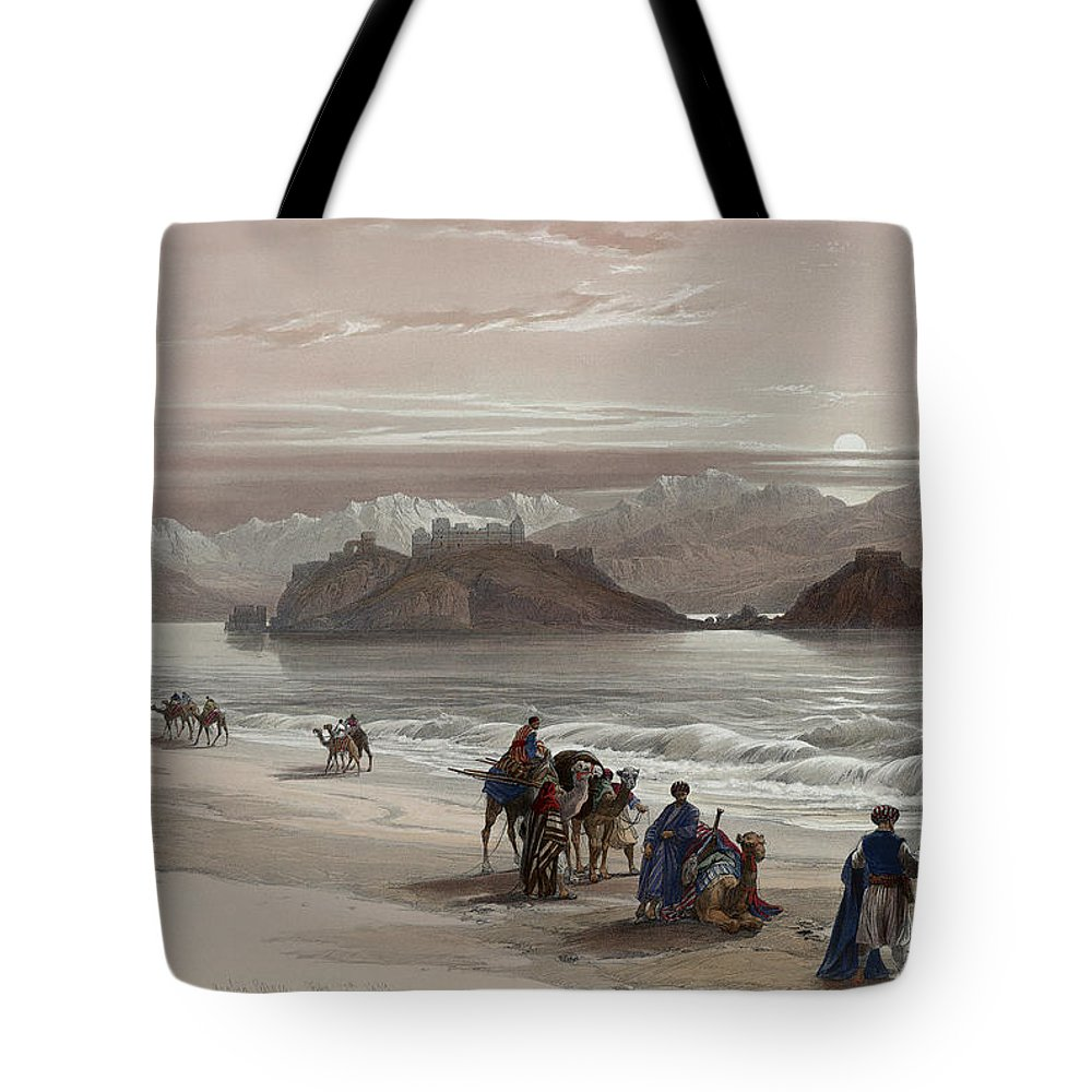 isle of graia gulf of akabah arabia petraea tote bag for. Black Bedroom Furniture Sets. Home Design Ideas