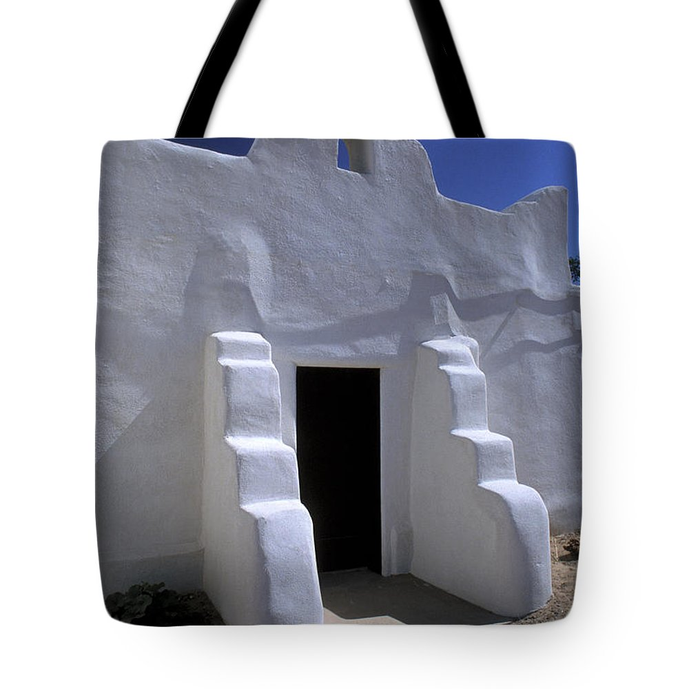 Adobe Tote Bag featuring the photograph Isleta by Jerry McElroy