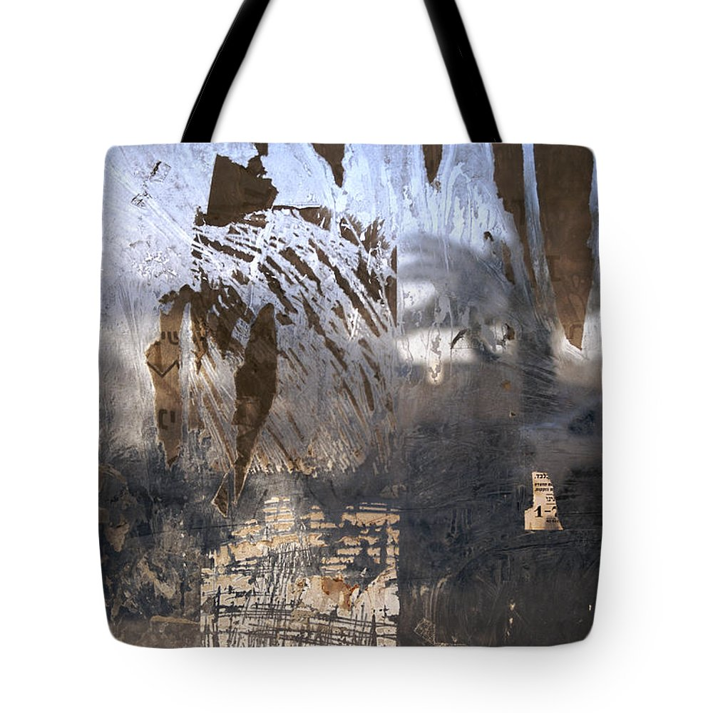Color Image Tote Bag featuring the photograph Israel, Jerusalem Abstract Of A Window by Keenpress