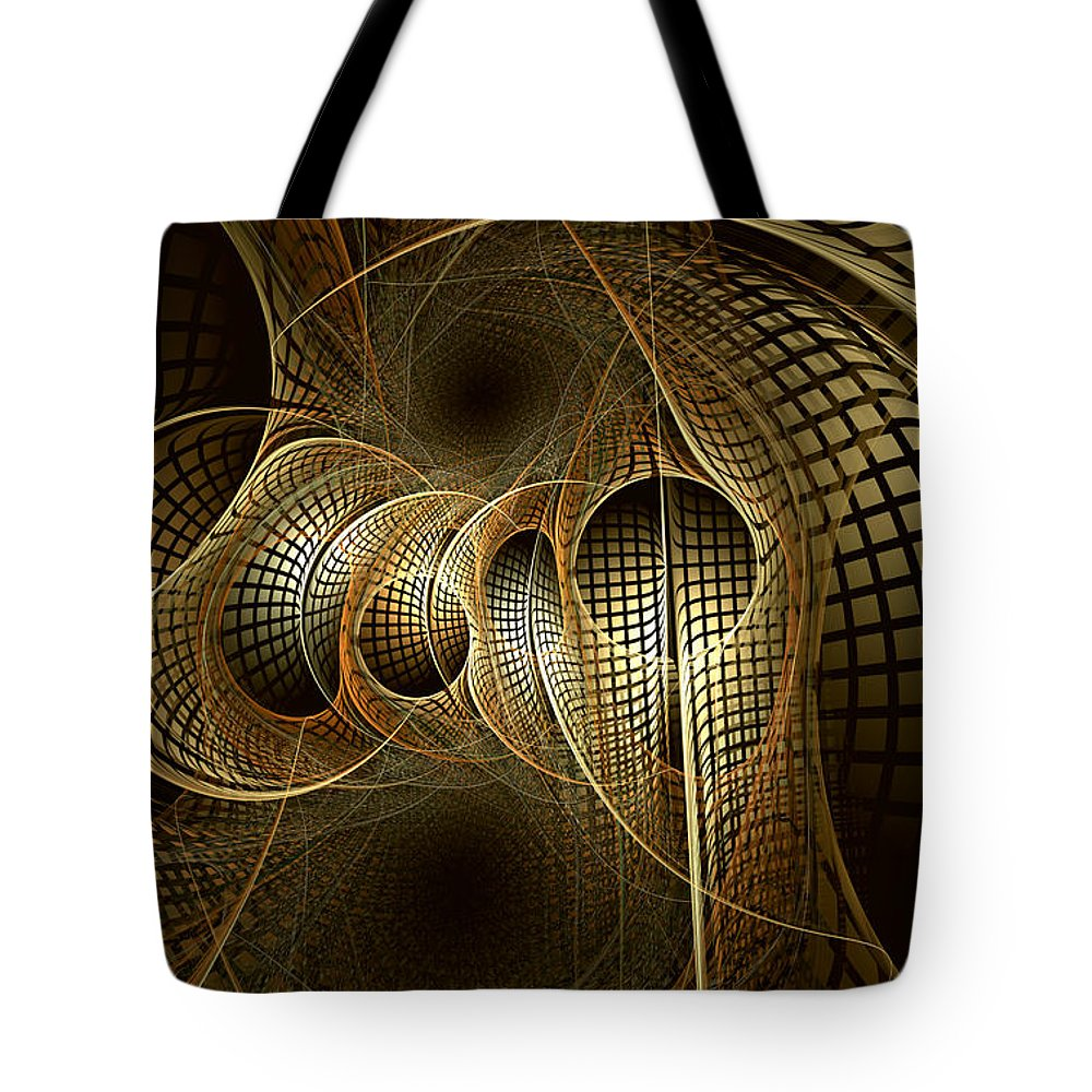 Abstract Tote Bag featuring the digital art Issuance Of The Metropole by Casey Kotas