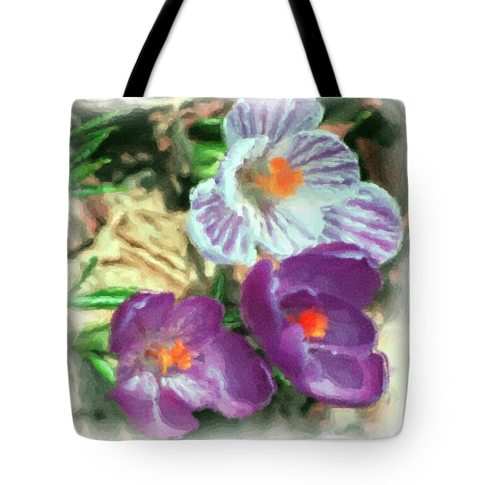 Digital Photography Tote Bag featuring the photograph Ist Flowers In The Garden 2010 by David Lane