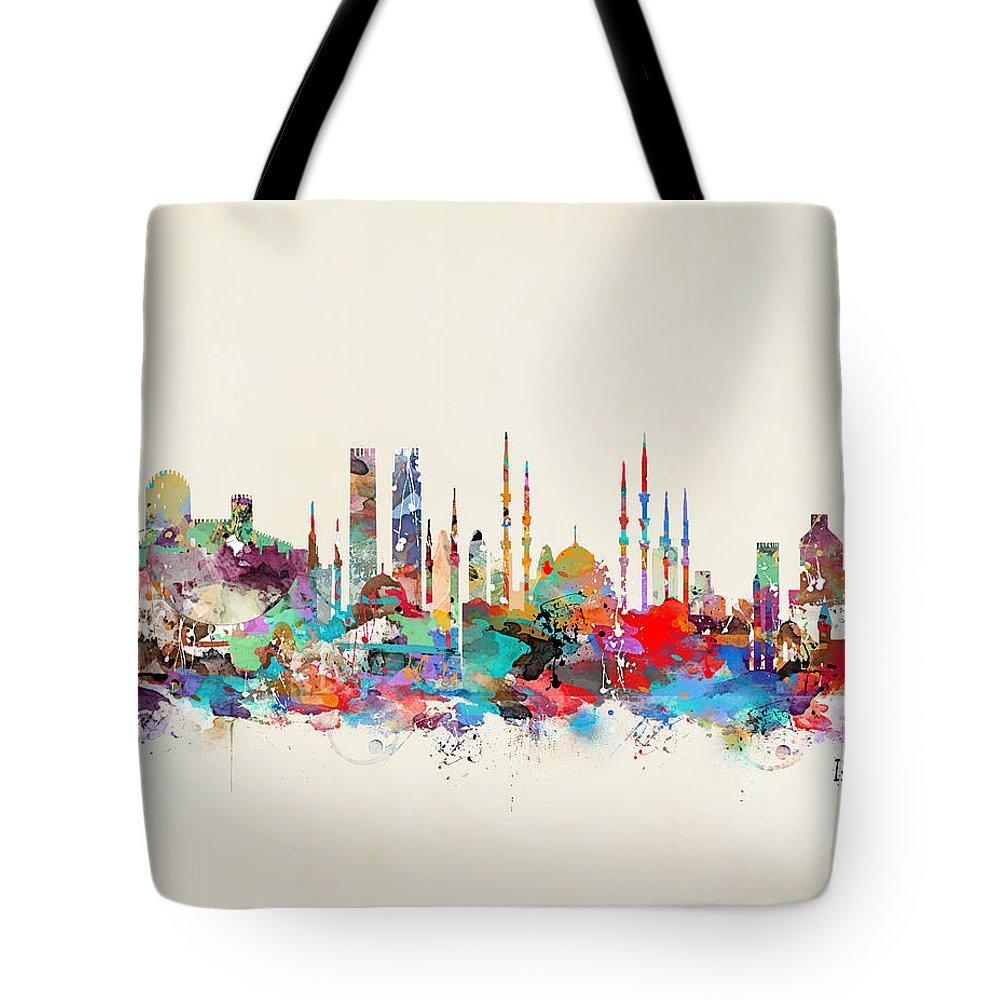 Istanbul Paintings Tote Bags
