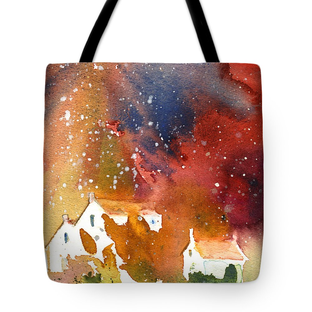 Watercolour Tote Bag featuring the painting It Is Always Snowing Somewhere 01 by Miki De Goodaboom