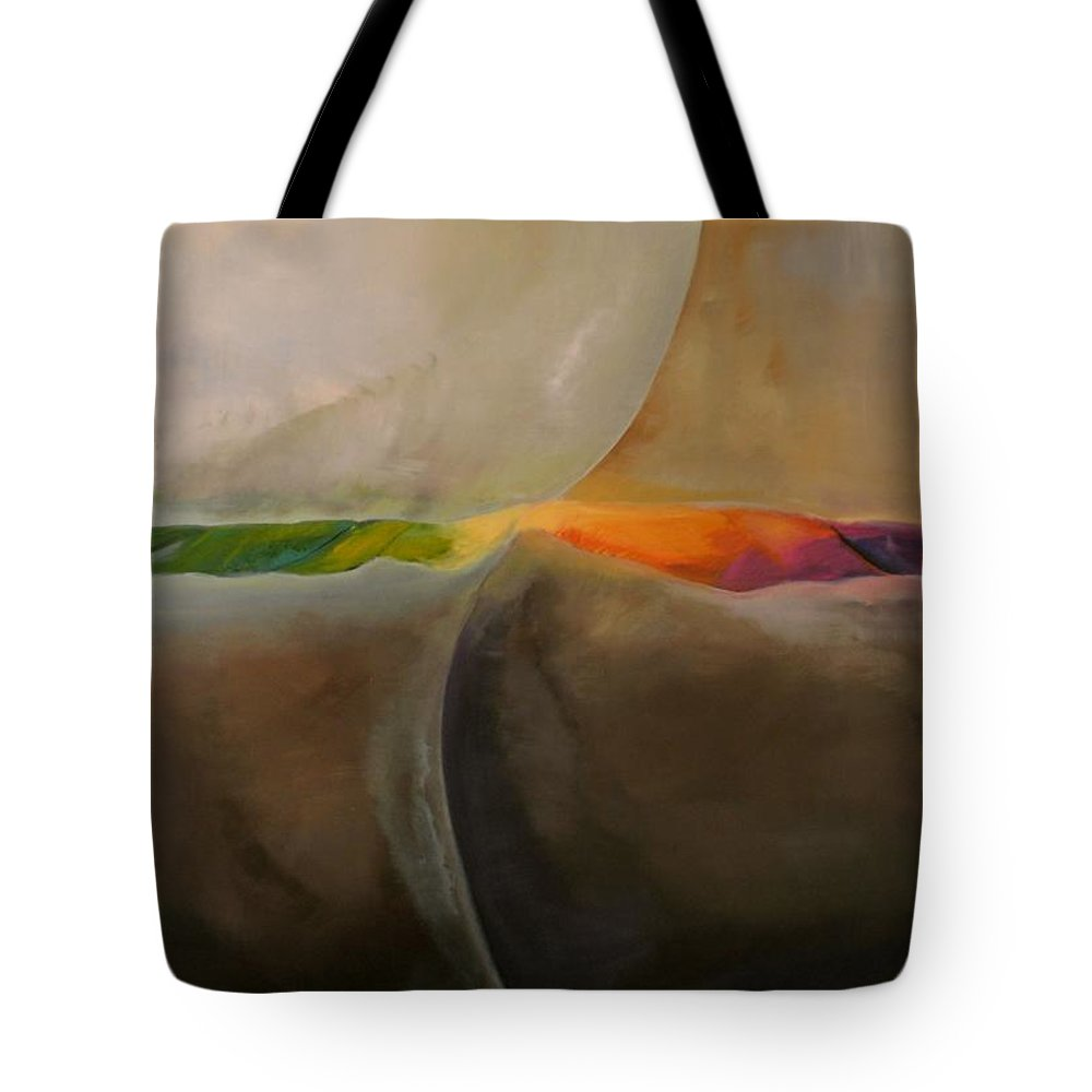 Abstract Tote Bag featuring the painting It Is Not Black And White by Clari Netzer