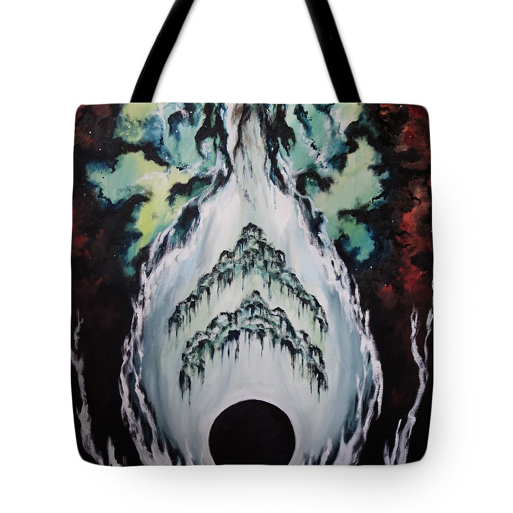 Heaven Tote Bag featuring the painting It Is Time by Cheryl Pettigrew