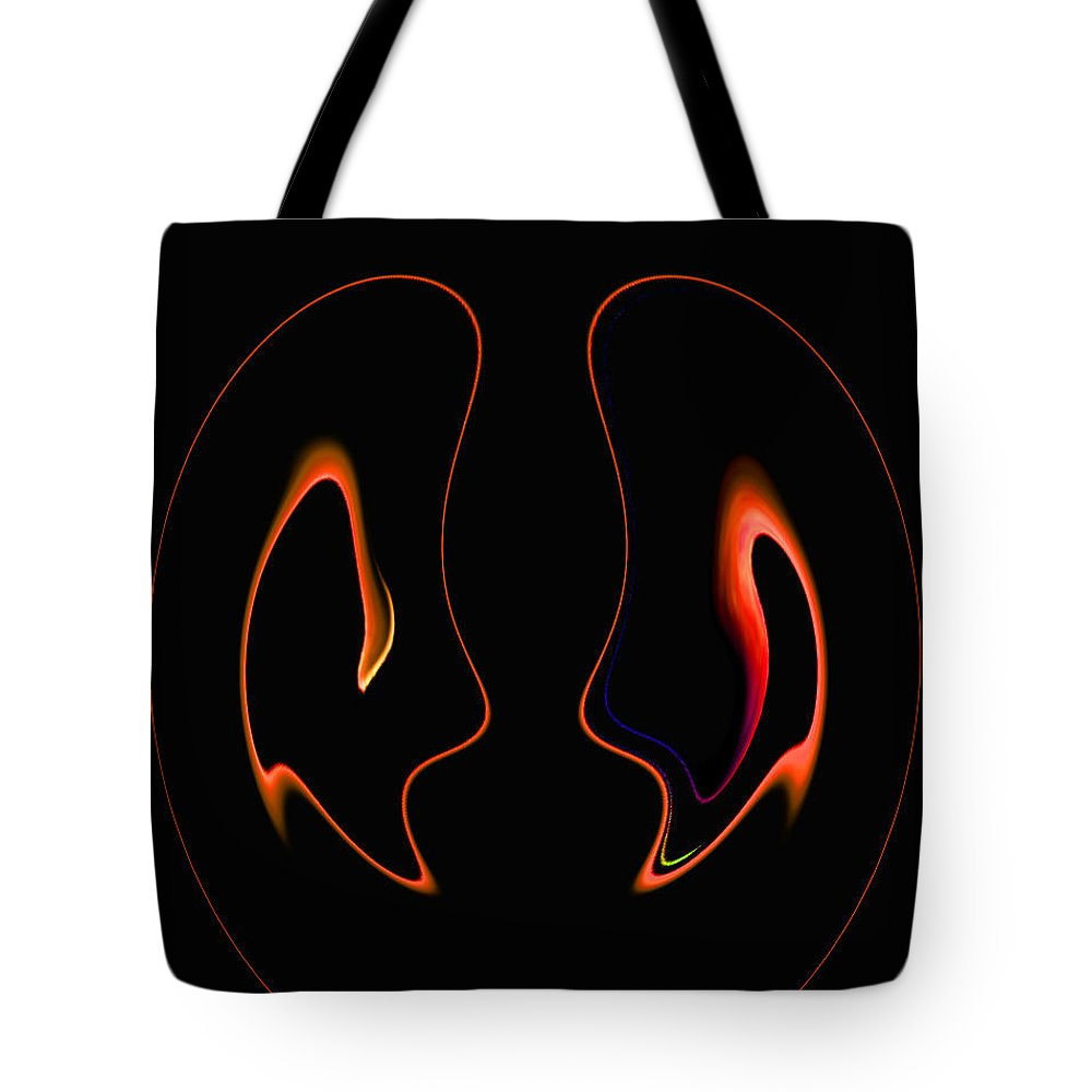 Abstract Tote Bag featuring the digital art It Looks Like Love by Lenore Senior