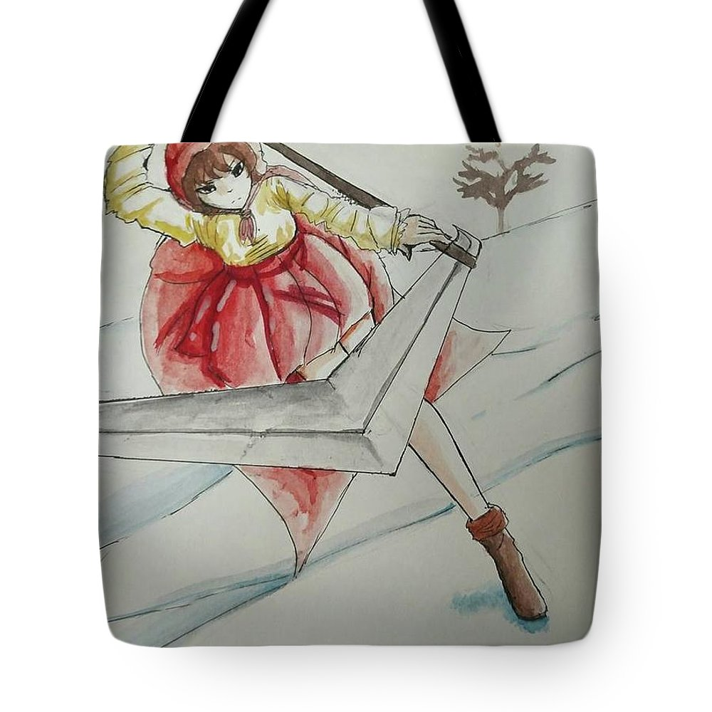 Tote Bag featuring the mixed media It Takes Time by Lauren Champion