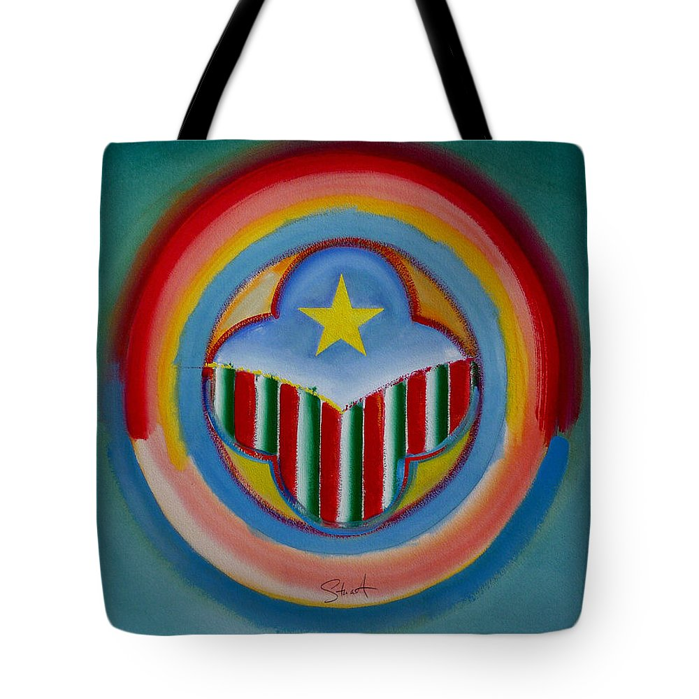 Button Tote Bag featuring the painting Italian American by Charles Stuart
