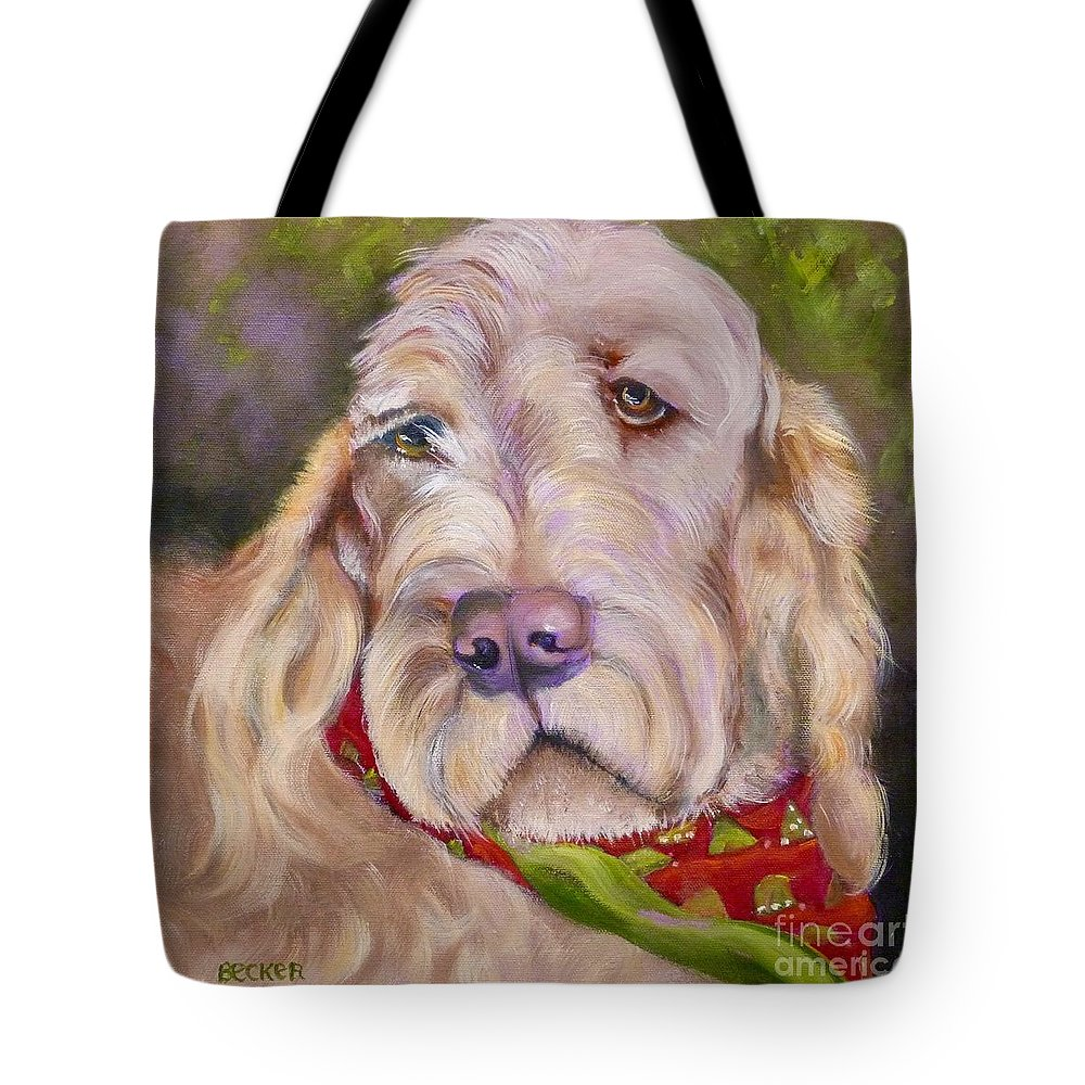 Dog Tote Bag featuring the painting Italian Spinoni by Susan A Becker