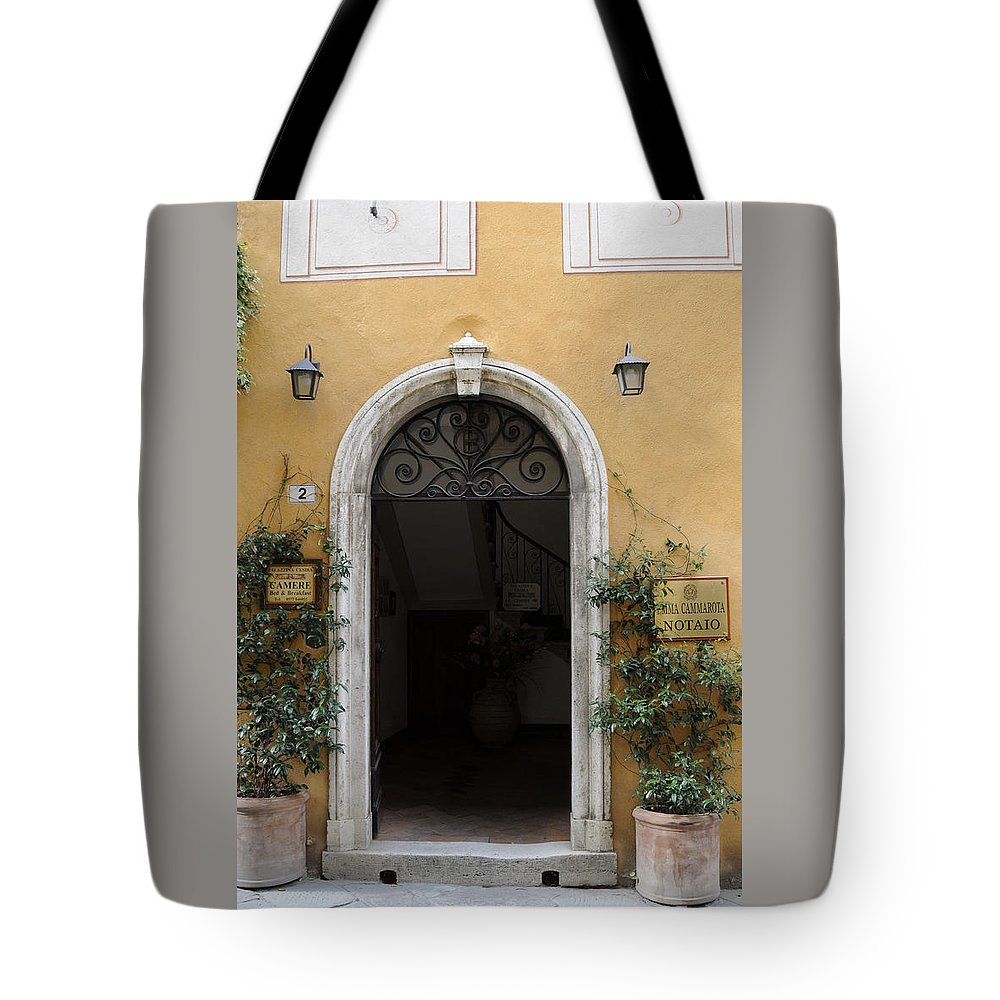 Europe Tote Bag featuring the photograph Italy - Door Thirteen by Jim Benest