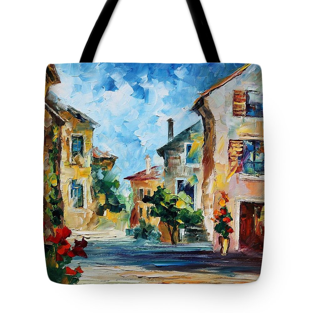 Afremov Tote Bag featuring the painting Italy New by Leonid Afremov