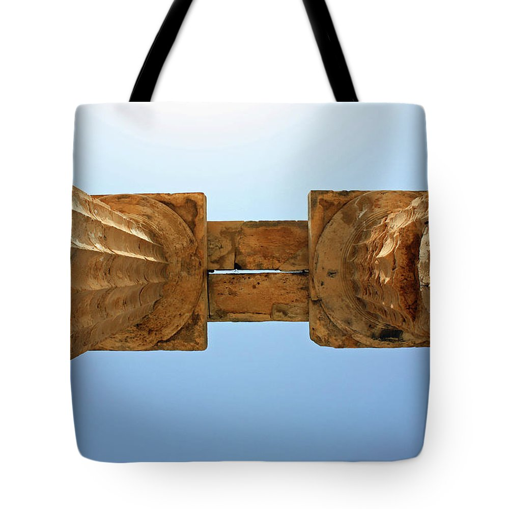 Islands Tote Bag featuring the photograph Italy, Sicily - Segesta Temple Detail by Paolo Modena