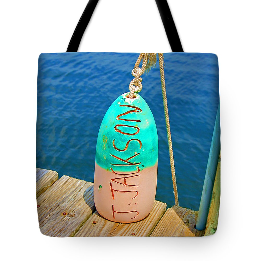 Water Tote Bag featuring the photograph Its A Buoy by Debbi Granruth