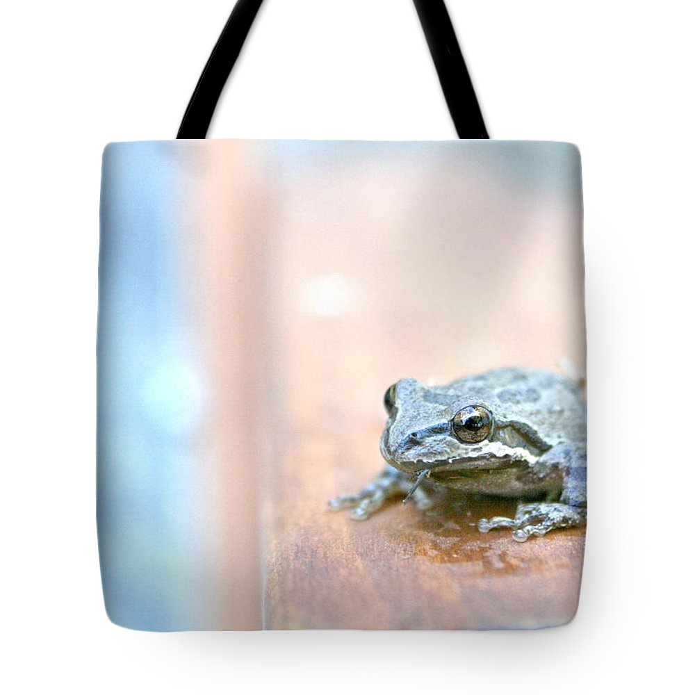 Frog Tote Bag featuring the photograph It's A Good Day To Be A Frog by Sally Bauer