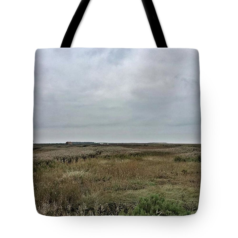 Natureonly Tote Bag featuring the photograph It's A Grey Day In North Norfolk Today by John Edwards