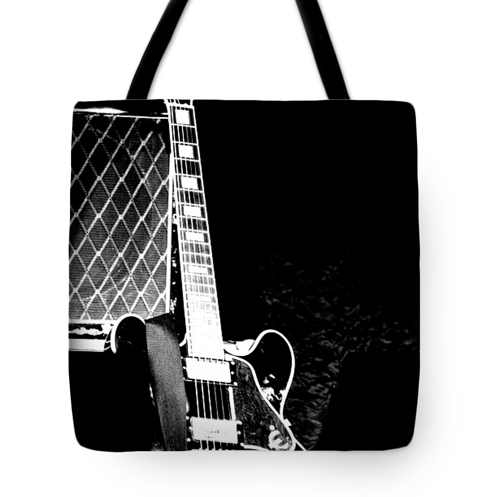 Guitar Tote Bag featuring the photograph Its All Rock N Roll by Traci Cottingham