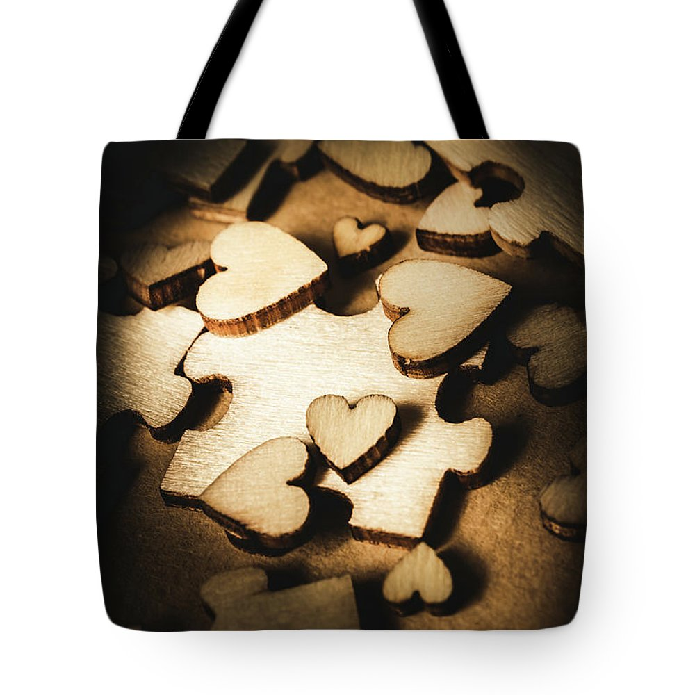 Puzzle Tote Bag featuring the photograph Its Complicated by Jorgo Photography - Wall Art Gallery