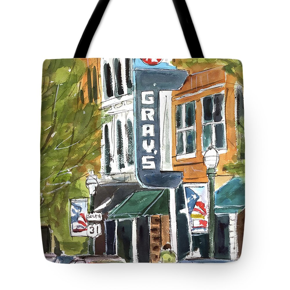 Franklin Tote Bag featuring the painting Its Friday In Franklin by Tim Ross