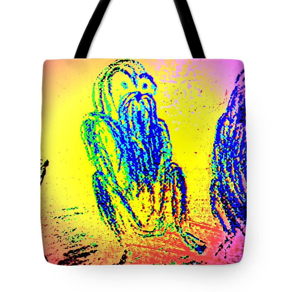 Dogs Tote Bag featuring the photograph it's late autumn and I'm going by Hilde Widerberg
