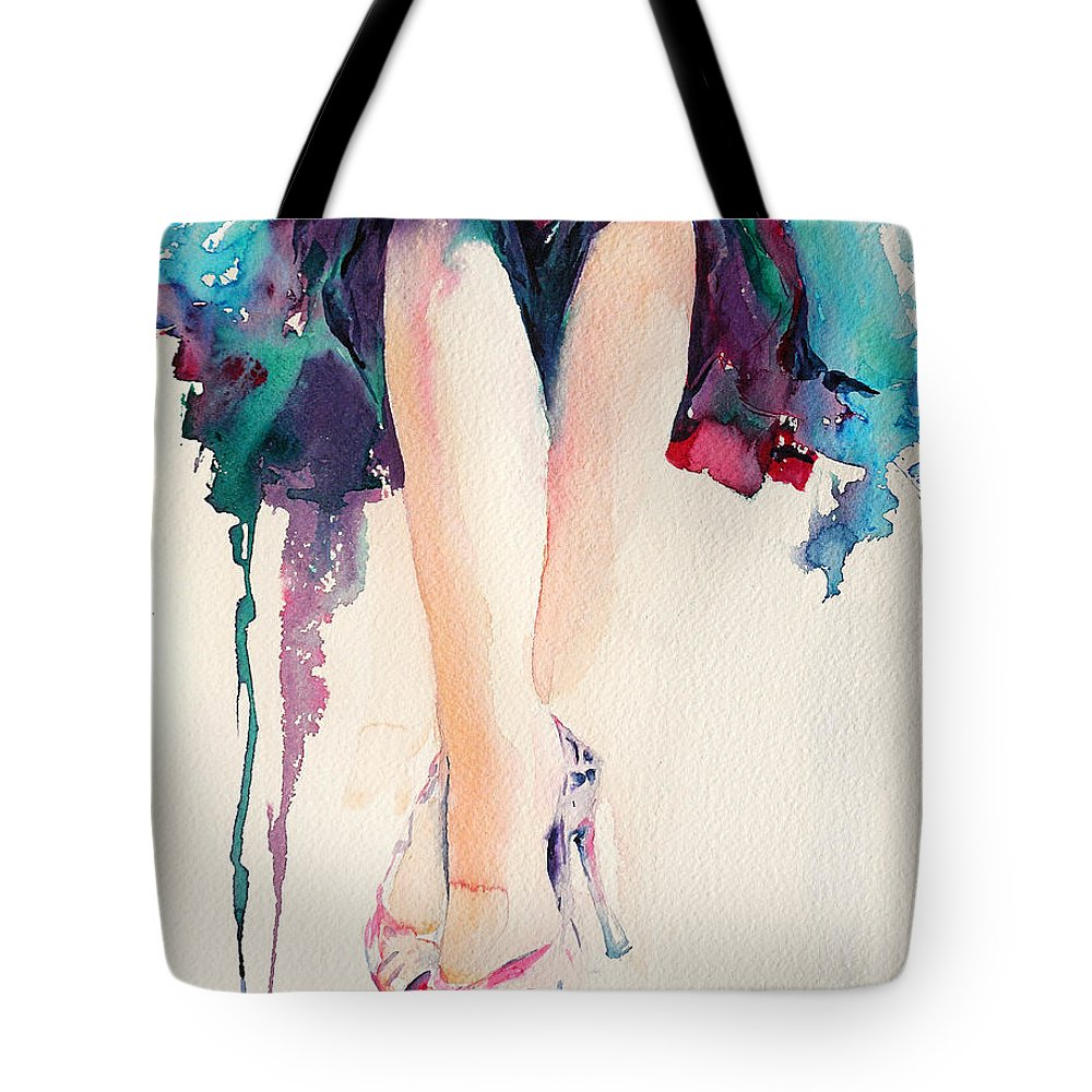 Legs Tote Bag featuring the painting It's Party Time by Stephie Butler