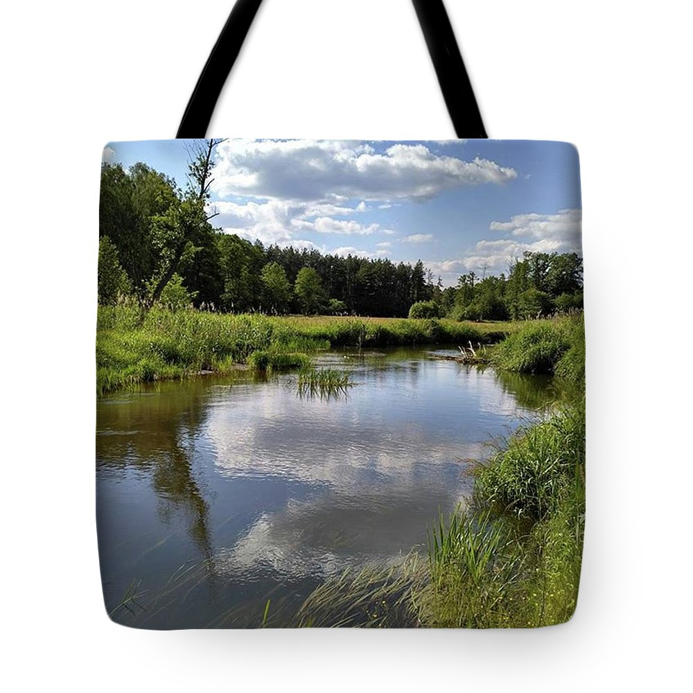 Poland Tote Bag featuring the photograph It's So Calming Here In Odrzywol by Arletta Cwalina