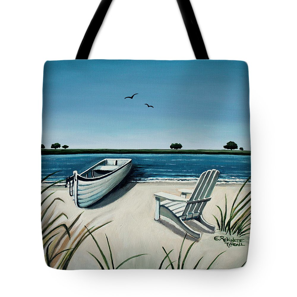 Beach Tote Bag featuring the painting Its Summertime by Elizabeth Robinette Tyndall