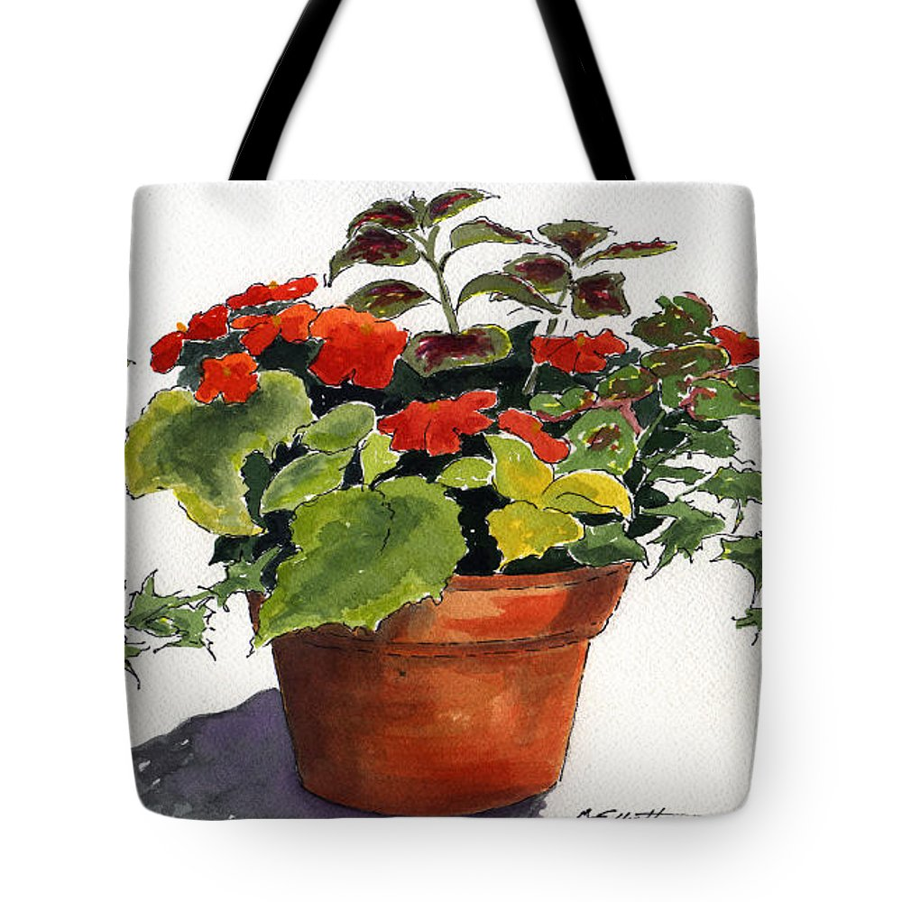 Flower Tote Bag featuring the painting Ivy League by Marsha Elliott