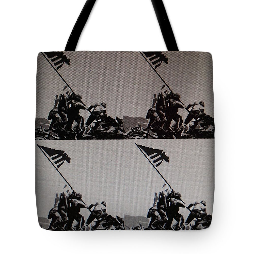 Pop Art Tote Bag featuring the photograph Iwo Jima by Rob Hans