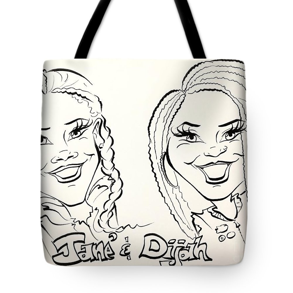 Tote Bag featuring the painting J D by Sally Huhta