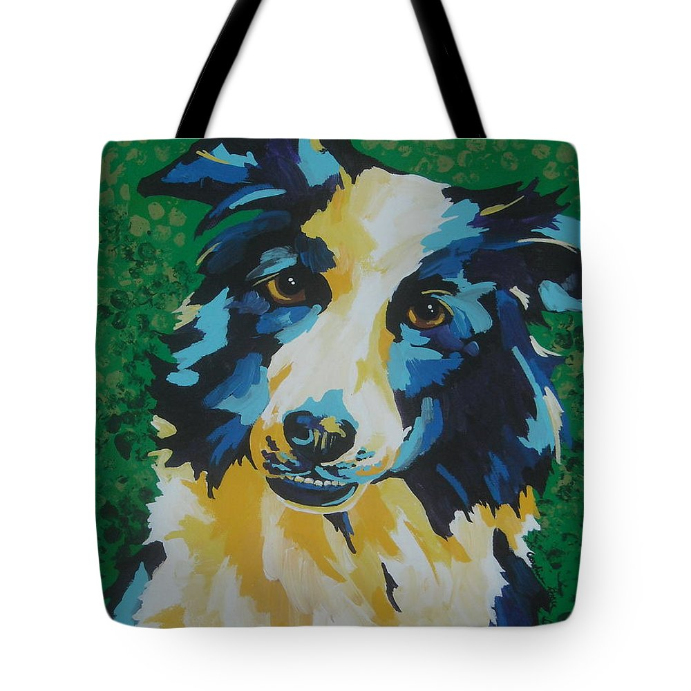 Canine Tote Bag featuring the painting Jack by Caroline Davis