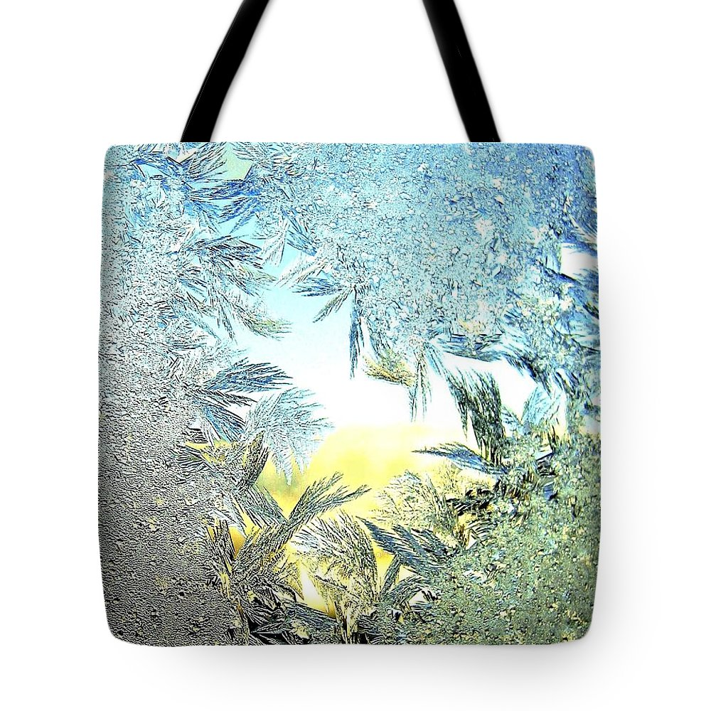 Winter Tote Bag featuring the photograph Jack Frost Masterpiece by Will Borden