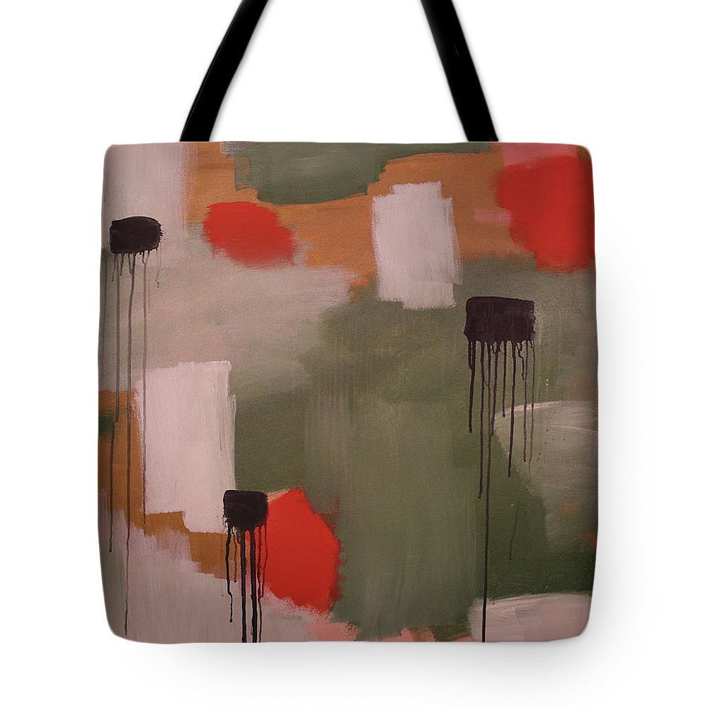 Green Tote Bag featuring the painting Jackalope Crossing 1 by Rebecca Danger
