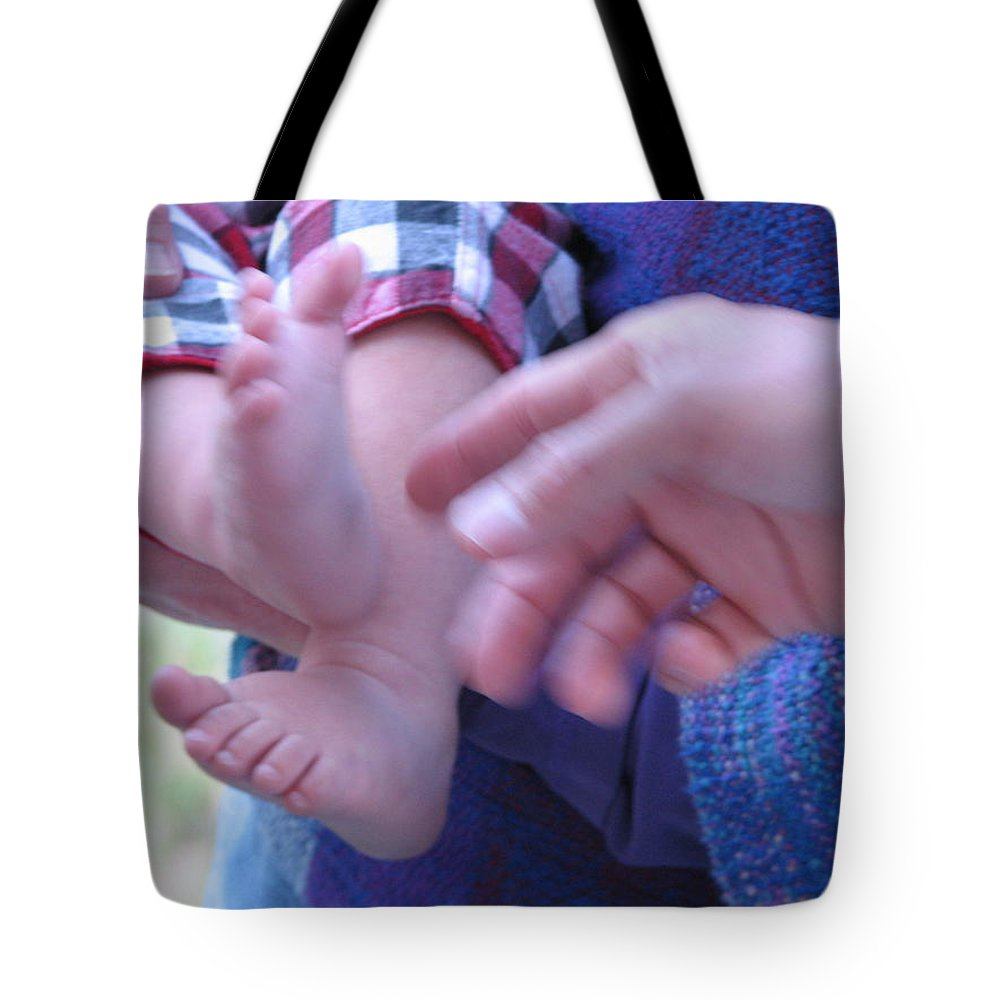 Feet Tote Bag featuring the photograph Jack's Feet by Kelly Mezzapelle