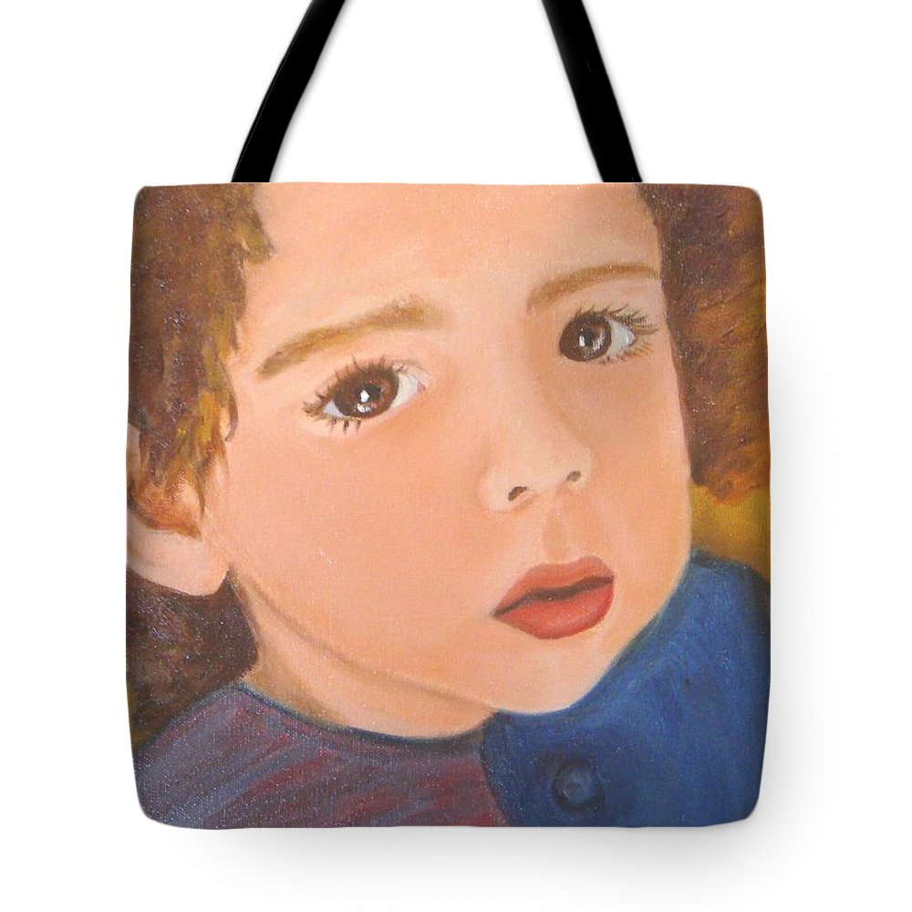 Portrait Tote Bag featuring the painting Jackson by Laurie Morgan