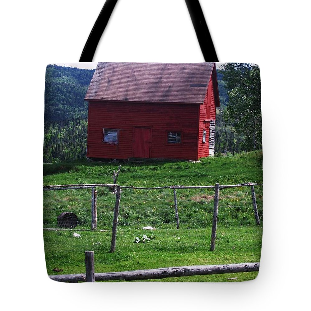 Photograph Newfoundland Jackson Cove Boat Grass Tote Bag featuring the photograph Jackson's Cove by Seon-Jeong Kim