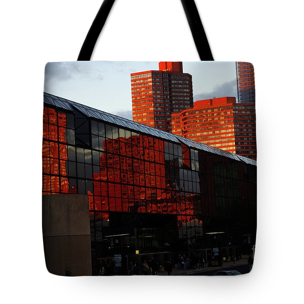 New York City Tote Bag featuring the photograph Jacob Javits Reflections by Rich Walter