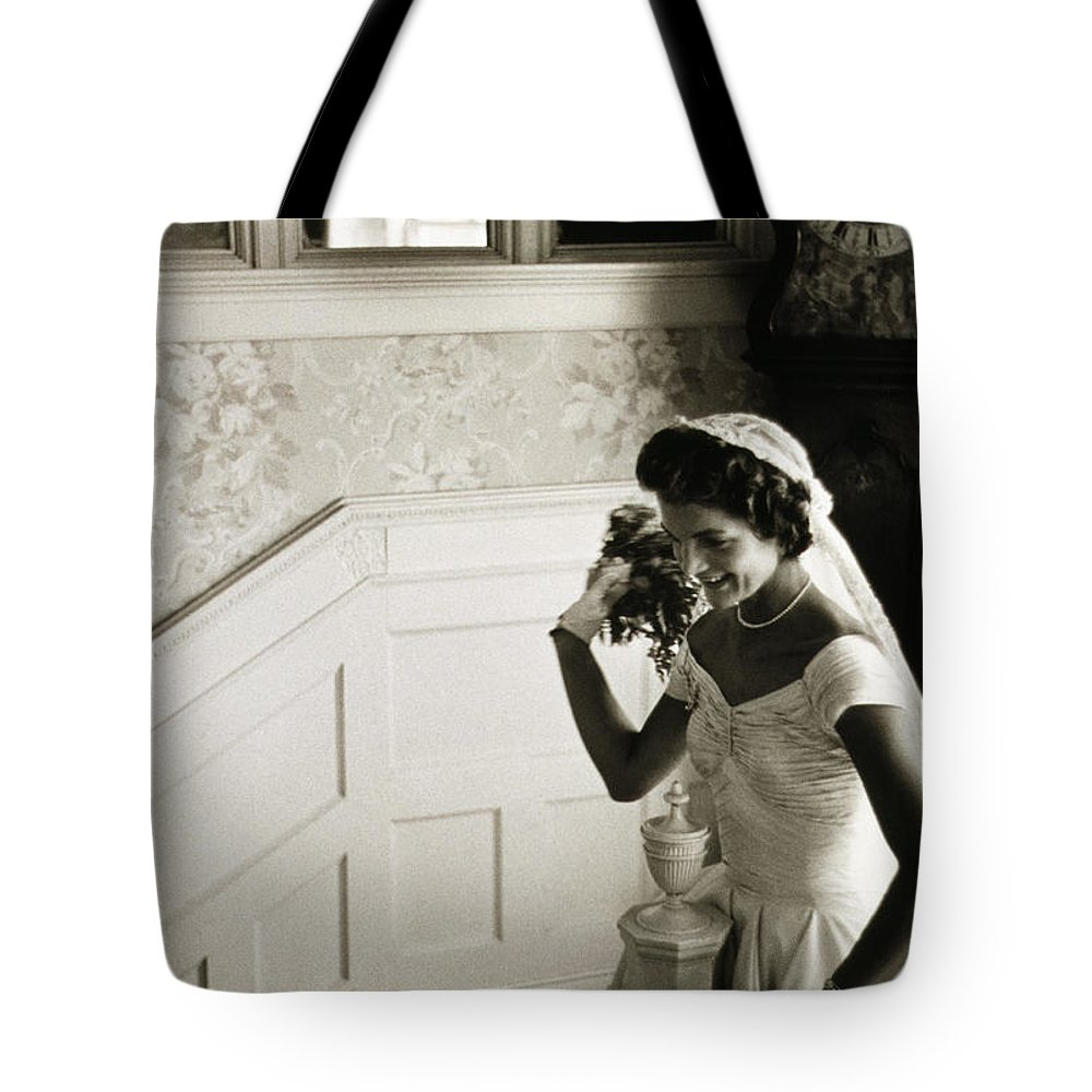 1953 Tote Bag featuring the photograph Jacqueline Kennedy by Granger
