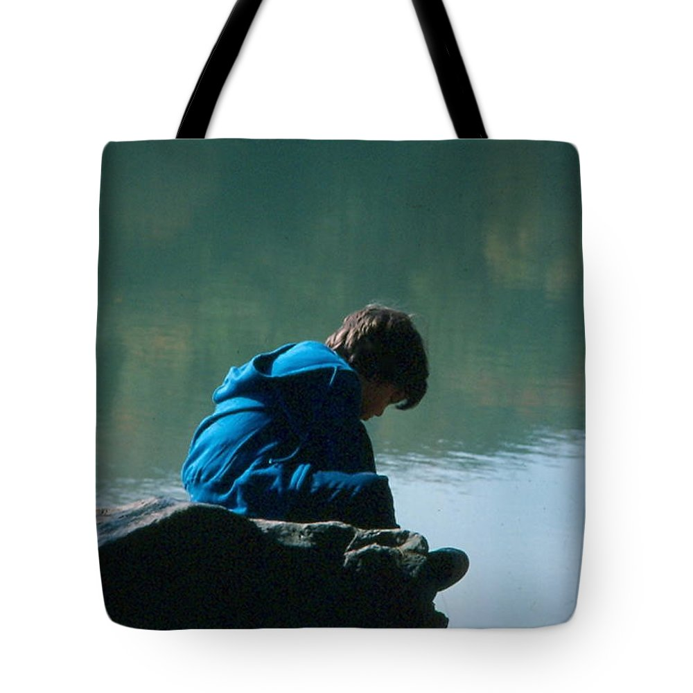 Silhouette Tote Bag featuring the photograph Jadon Pondering by Penny Neimiller