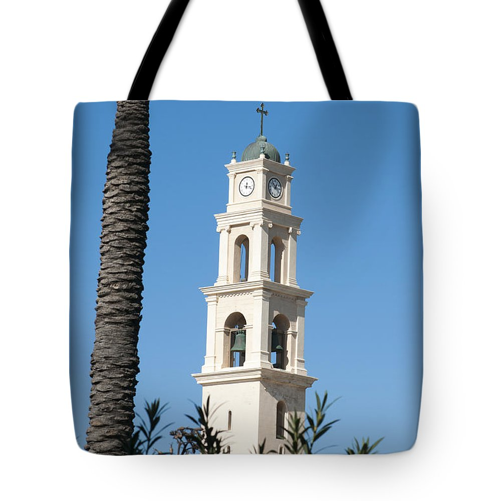 Jaffa Tote Bag featuring the photograph Jaffa, St Peter Church And Monastery by Ilan Rosen