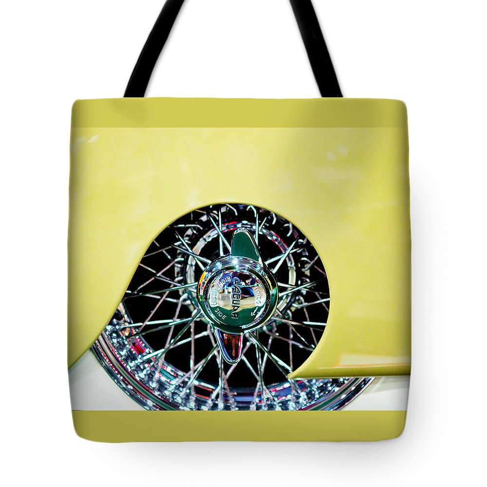 Classic Car Tote Bag featuring the photograph Jag by Rebecca Cozart