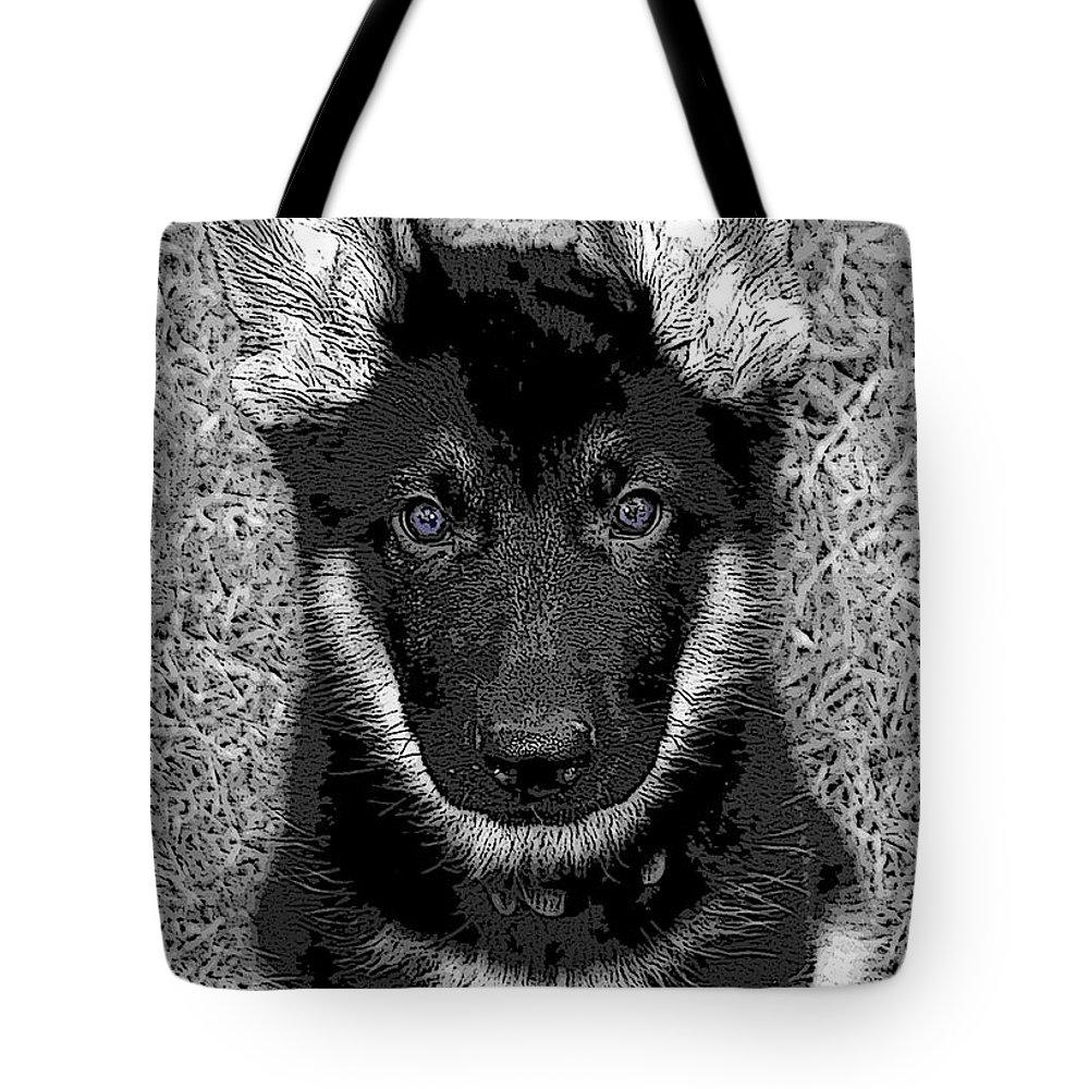 Dog Tote Bag featuring the digital art Jager by Stacey May