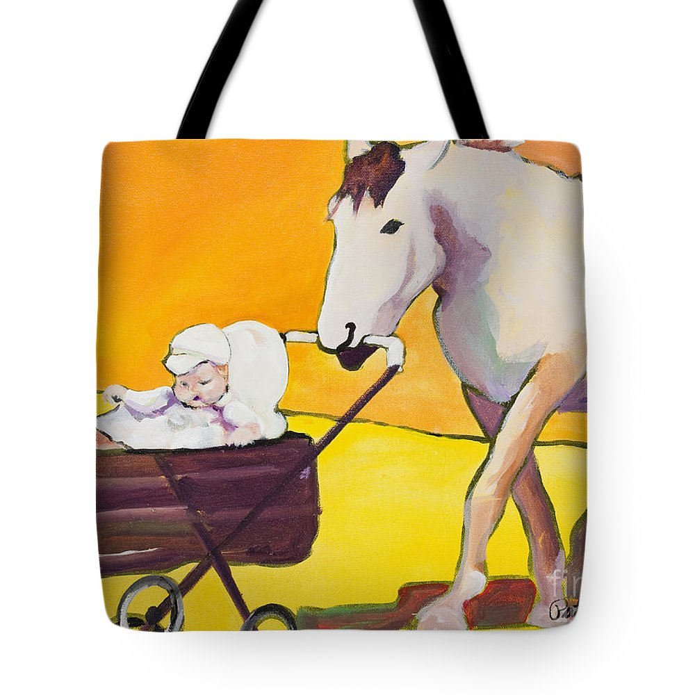 Animal Tote Bag featuring the painting Jake by Pat Saunders-White