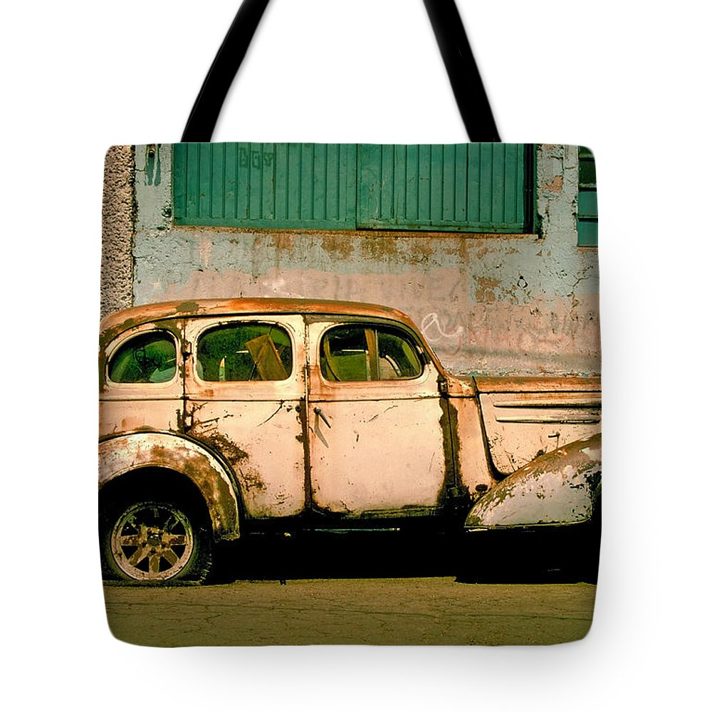 Skip Tote Bag featuring the photograph Jalopy by Skip Hunt