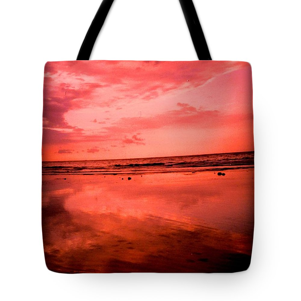 Sunset Tote Bag featuring the photograph Jamaica Sunset by Ian MacDonald