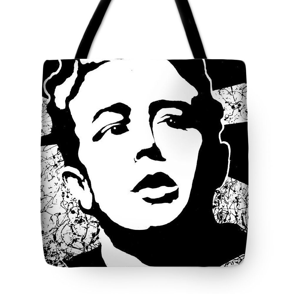 James Dean Tote Bag featuring the painting James Dean by Curtiss Shaffer