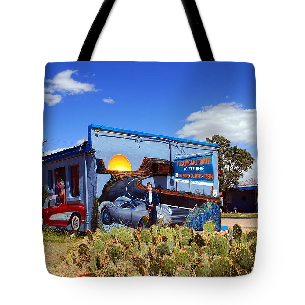 Route 66 Tote Bag featuring the photograph James Dean Was Here Too by Susanne Van Hulst