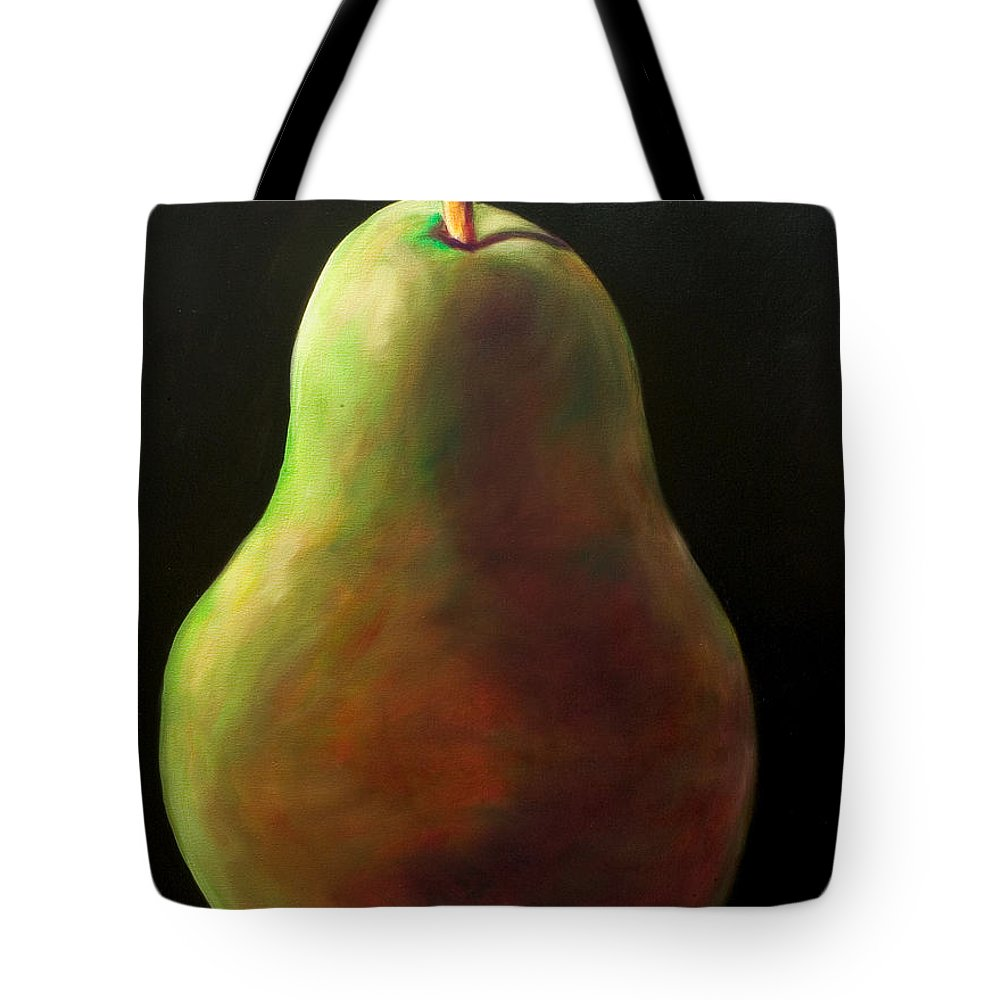 Pear Tote Bag featuring the painting Jan by Shannon Grissom